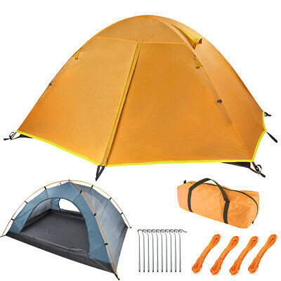 £37.99 • Buy 2-3 Person Man Family Tent Double Layer Tent Breathable Camping Hiking Outdoor