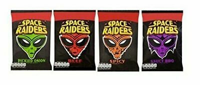 £12.99 • Buy Space Raiders Box Of 36 MIXED Crisps Snacks Picked Onion, Beef, Spicy & BBQ 25g