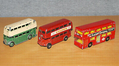 £9.99 • Buy Three Vintage Dinky, Matchbox & Budgie Toys Diecast Double Decker Bus Models