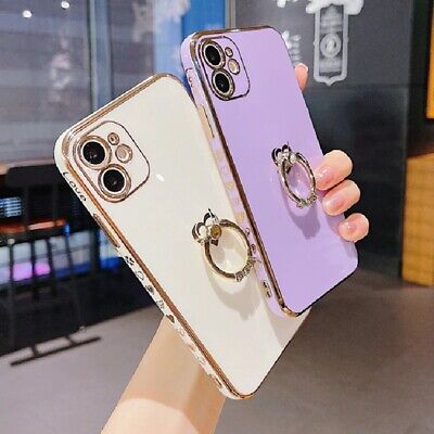 AU12.01 • Buy Love Case With Diamond Ring Holder Phone For Iphone 8 SE XR XS 11 12 Cases Cover