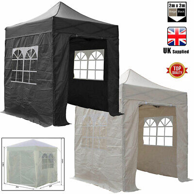 £74.95 • Buy 2m X 2m Pop Up Gazebo Party Tent Marquee With Sides Inc Windows And Storage Bag