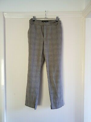 £6 • Buy Womens Grey Check Slim Fit Tapered Trousers S 14/L