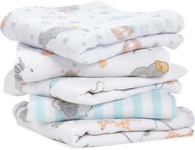 £19.99 • Buy Aden + Anais ESSENTIALS MUSLIN SQUARES - DUMBO NEW HEIGHTS - 5 PACK Baby BN