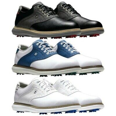 $159.44 • Buy FootJoy Mens Traditions Waterproof Golf Shoes Lightweight Leather Spiked