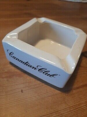 £8.95 • Buy Canadian Club Whiskey Ashtray Mancave Home Bar Collectable Wade England Vintage