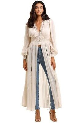 AU220 • Buy Spell And The Gypsy Ivory Le Gauze Duster Small