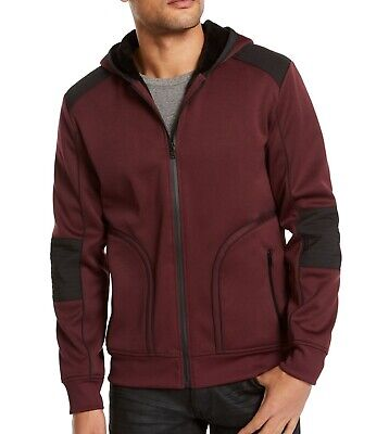 £6.38 • Buy INC Mens Jacket Red Ink Size 2XL Hooded Faux-Fur Lined Colorblocked $99 036