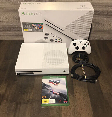 AU260 • Buy Xbox One S 500GB Console With Controller, Cables, Box And Game.