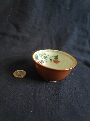 £9.99 • Buy Antique Chinese Porcelain Tea Bowl With Brown Outside