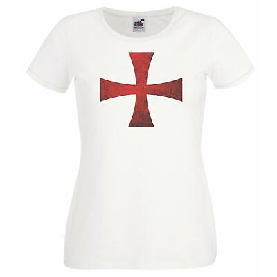 £11.95 • Buy Womens England Supporters Templar Crusader Cross St Georges Day T-Shirt