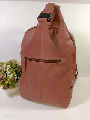 £45 • Buy Leather  Bag Crossbody Shoulder Bags Chest Back Pack Suitable For Cyclists
