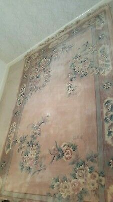 £35 • Buy Large Chinese Quality Rug - Floral Design - Peach - Re Listed Due Delivery Error