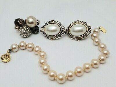 $ CDN22.66 • Buy Lot Of Vintage Jewelry All Wearable Condition Earrings And Bracelet And Ring