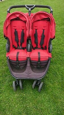 £50 • Buy Britax B-Agile Double Buggy With Rain Cover RED