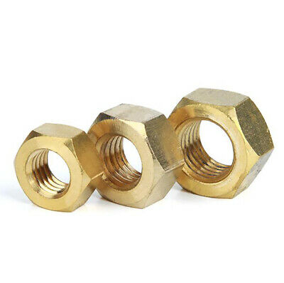 $2.95 • Buy Brass Full Hex Nuts Hexagon NUT For Screw Bolts M2 M2.5 M3 M4 M5 M6 M8 M10 M12