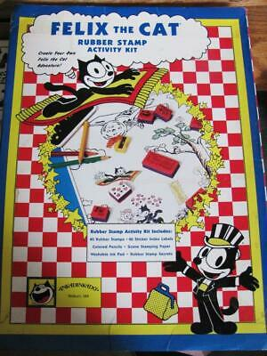 £8.49 • Buy Felix The Cat Rubber Stamp Activity Kit By Inkadinkado With 40 Stamps