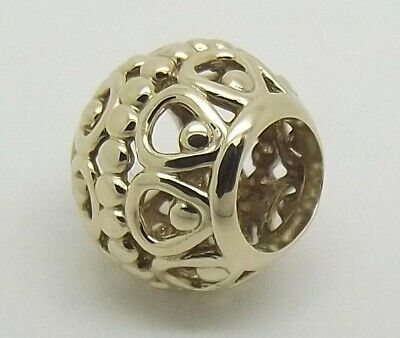 AU175 • Buy Pandora 14ct Yellow Gold Openwork Guilded Cage Charm #750458