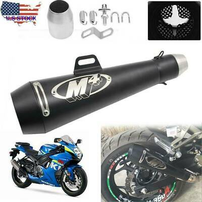 $64.99 • Buy Motorcycle Exhaust Muffler Pipe DB Killer Slip On M4 Exhaust For GSXR 750 YZF R6