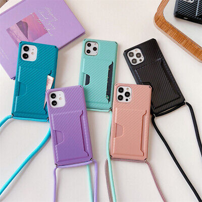 AU16.98 • Buy Card Holder Neck Strap Silicone Case Cover For IPhone 12 Pro Max 11 XS XR 7 8 AU
