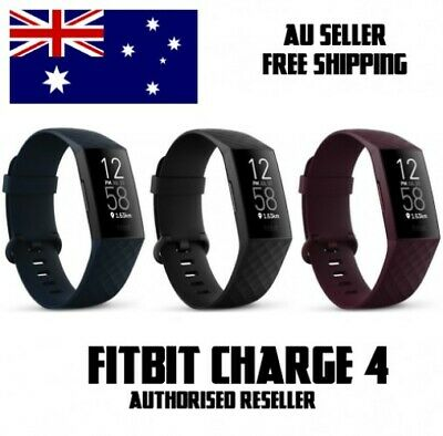 AU125 • Buy Fitbit Charge 4 Activity Tracker Black Pebble [AU][New][Free Shipping]