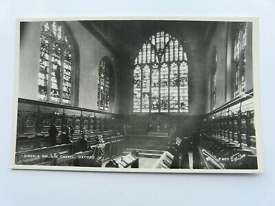 £1.30 • Buy Real Photo/Postcard - OXFORD, LINCOLN COLLEGE CHAPEL. WALTER SCOTT