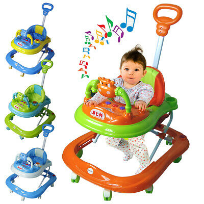 £39.95 • Buy Baby Walker First Steps Push Along Bouncer Activity Music Ride On Car Melody UK