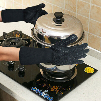 £11.29 • Buy 932°F Heat Proof Resistant Glove Mitt For Bowl Holder Fire Cooking Baking WZ2
