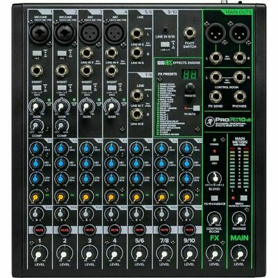 $278.52 • Buy Mackie Pro FX10 V3 Mixer With Built In Effects, USB Recording Interface & Sof...