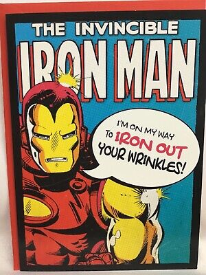 £2.75 • Buy Great Hallmark Iron Man Birthday Card - I'm On My Way To Iron Out Your Wrinkles