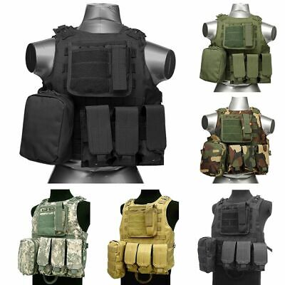 $27.89 • Buy Tactical Military SWAT Airsoft Molle Combat Assault Plate Carrier Vest Gear