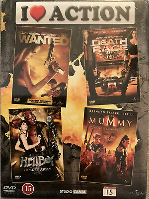 £1.99 • Buy Action Dvd Box Set. Wanted / Hellboy / The Mummy / Death Race. New Sealed