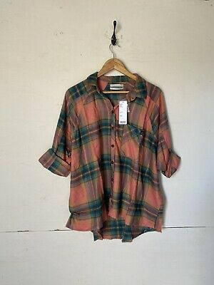 AU10.15 • Buy Urban Outfitters Brendan Drapey Flannel Chequered Top Shirt Size Uk S Bnwt