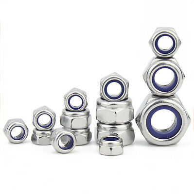 $2.65 • Buy Left-Hand Thread M4 To M12 Hex Nyloc Nylon Insert Locking Nut A2 Stainless Steel