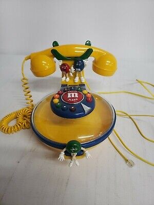 $24.90 • Buy M&M's Officially Licensed Corded Desk Phone/Telephone Candy Dispenser/Bowl