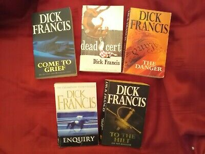 £5 • Buy Horse Racing Fiction Dick Francis Paperback Books X 5 Used Good Condition