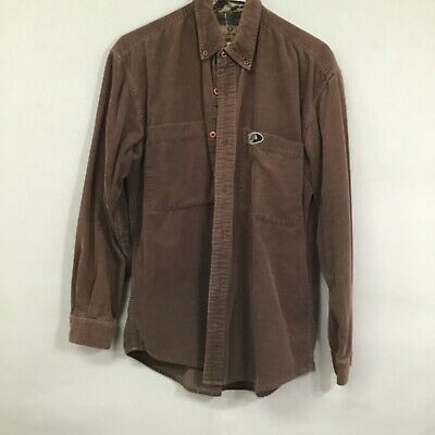 $21.99 • Buy Mossy Oak Apparel Mens Brown Long Sleeves Corduroy Button Front Shirt Size M