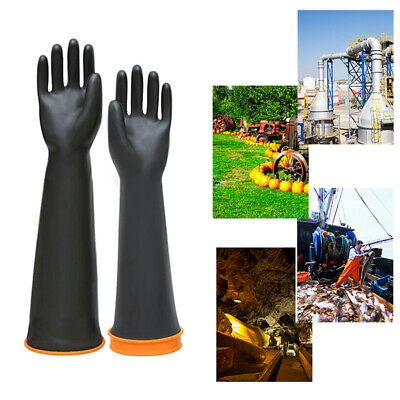 £6.59 • Buy 22  Latex Chemical Gloves Resistant Rubber PPE Industrial Safety Work Protective