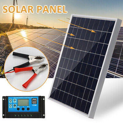 £23.99 • Buy 30W 12V Solar Powered Panel + 40A Solar Charge Controller Kit Camping Boat Tool