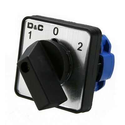 £6.95 • Buy AC 500V On-Off-On 3 Position Universal Rotary Selector Cam Changeover Switch^uk
