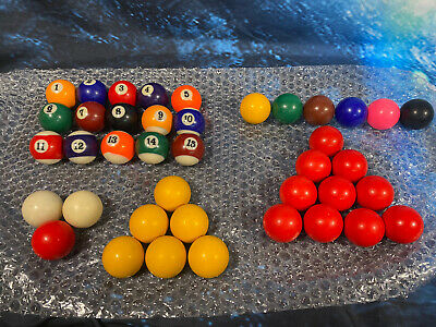 """£19.99 • Buy Billiards 9 Ball Pool Snooker Balls Used Various Assorted Games 1.25"""""""