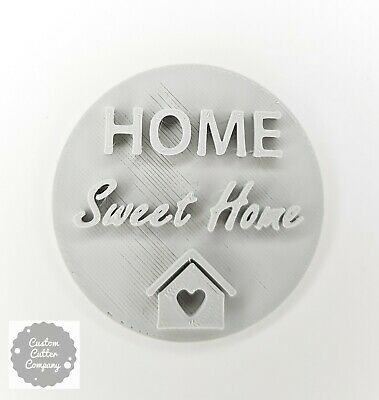 £4.95 • Buy Home Sweet Home New Home Embosser Stamp Cookie  Fondant Cupcake Decoration