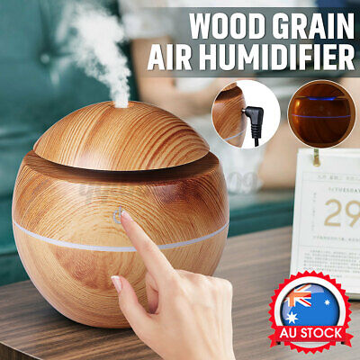 AU11.01 • Buy 130ML Aromatherapy LED Diffuser Aroma Essential Oil Air Humidifier Wood Grain AU