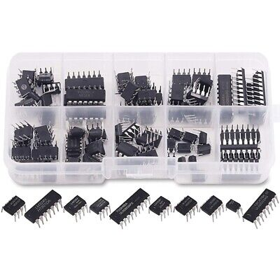£8.33 • Buy 85 Pieces 10 Types Integrated Circuit Chip Assortment Kit, DIP IC Socket Se Z3W9