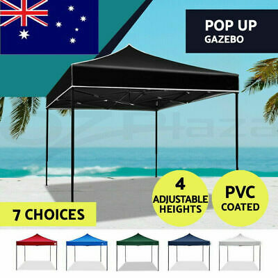 AU69 • Buy 3x3M Gazebo Tent Marquee Folding Camping Canopy Outdoor Tents Wedding Waterproof