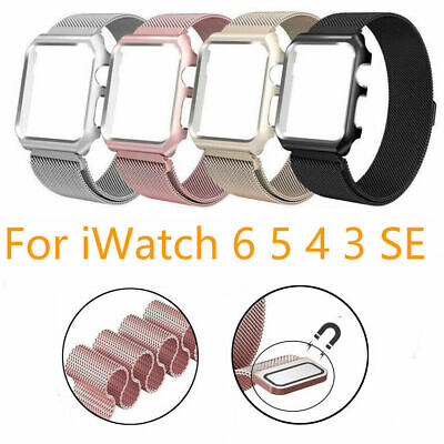 AU14.99 • Buy Milanese Metal Strap Band +case For Apple Watch Series 5 4 3 2 6 Iwatch 40 44 38