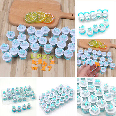 AU9.99 • Buy 26 Alphabet Letter Number Fondant Cake Biscuit Baking Mould Cookie Cutters Stamp