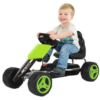 £69.88 • Buy Go Kart Kids Childrens Pedal Ride On Car Racing Toy Rubber Tyres Wheels 4-8 Year