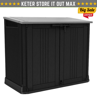 £174.90 • Buy Keter Store It Out MAX Garden Lockable Storage Box XL Shed Outside Bike Bin Tool