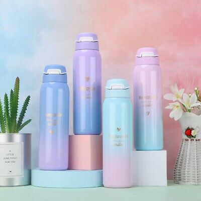 AU19.15 • Buy 480ML Stainless Steel Travel Tumbler Thermo Bottle Drinking Water Cup With Straw