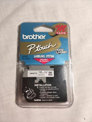 $5 • Buy Genuine Brother M Tape P-Touch - 12mm 1/2  M-K231 - White - Brand New